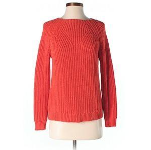 J Crew Orange Knit Sweater